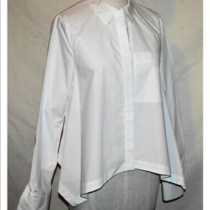 DEREK LAM 10 Crosby Blouse 4 White Pearl Buttons